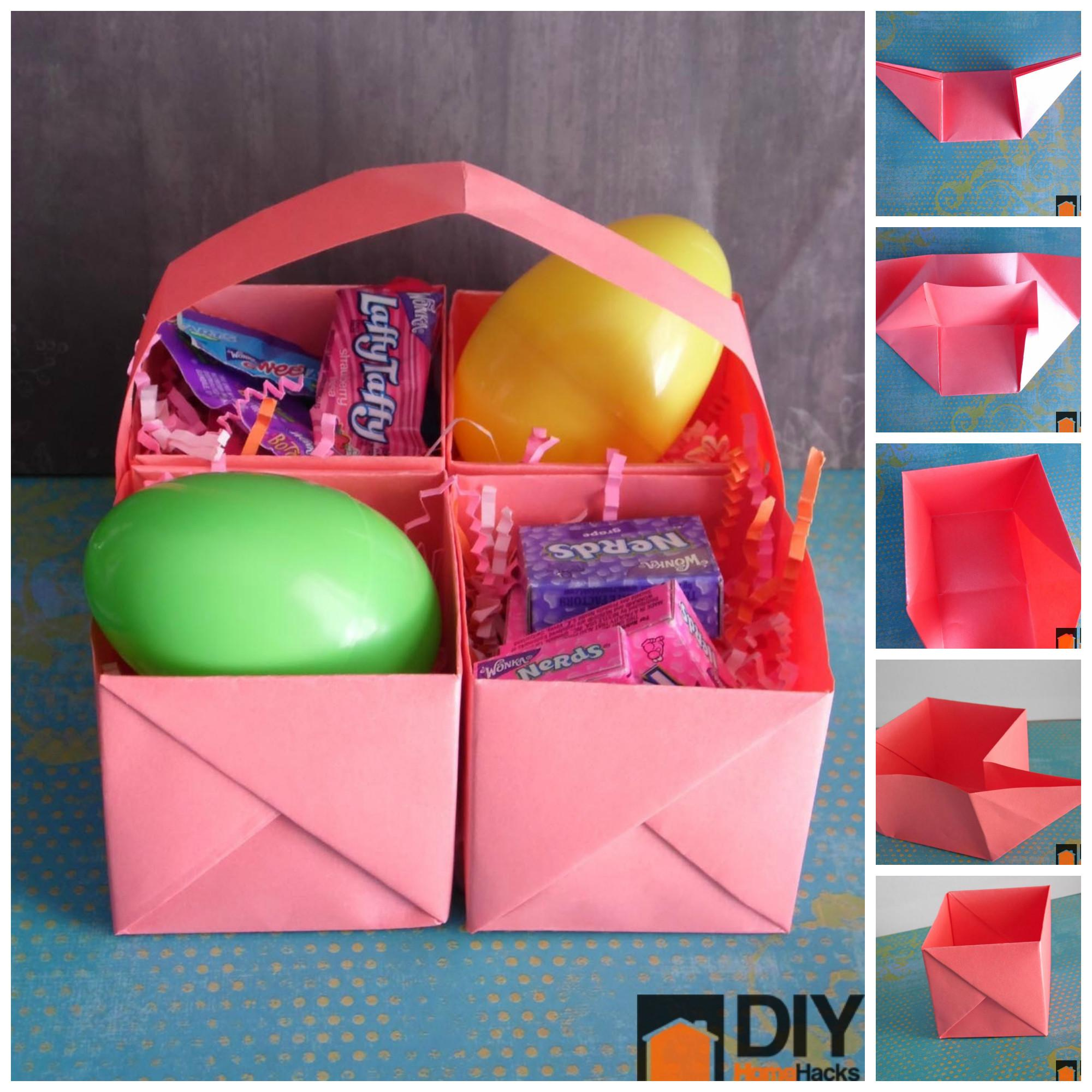 Easy Paper Easter Basket Perfect Last Minute