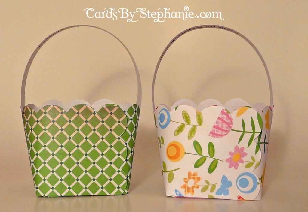 Easy Paper Easter Baskets Cards Stephanie
