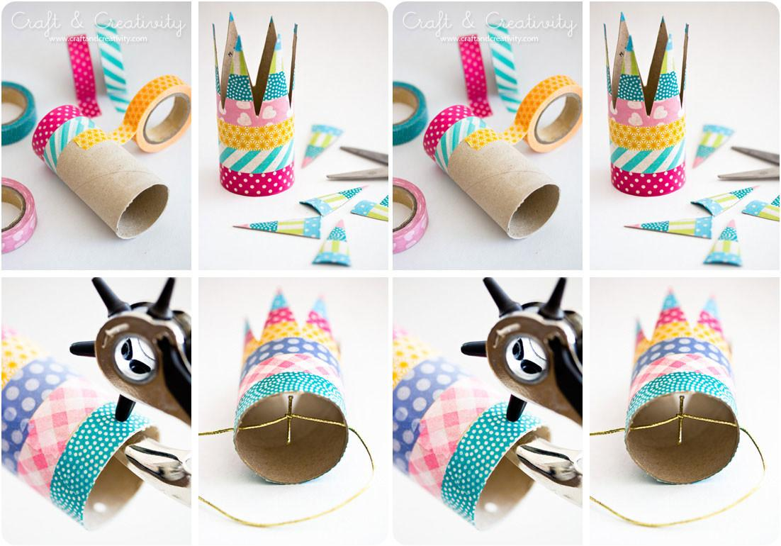 Easy Party Crown Made Toilet Paper Rolls Enchanted