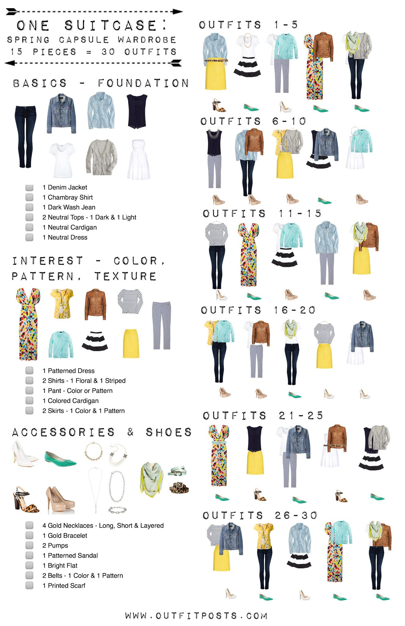 Easy Pieces Summer Outfits Capsule Wardrobe