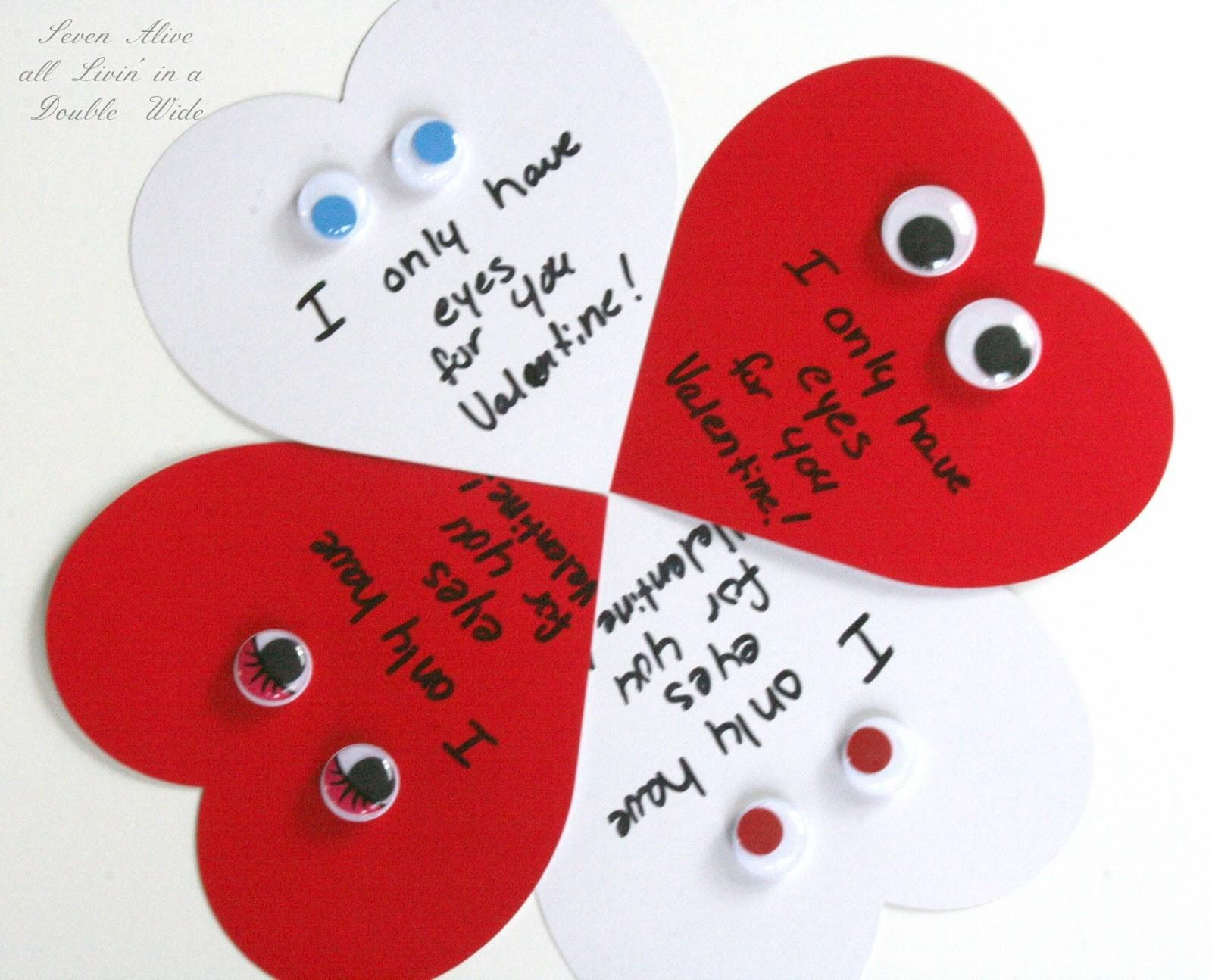 Easy Semi Homemade Valentines Day Cards Seven Alive