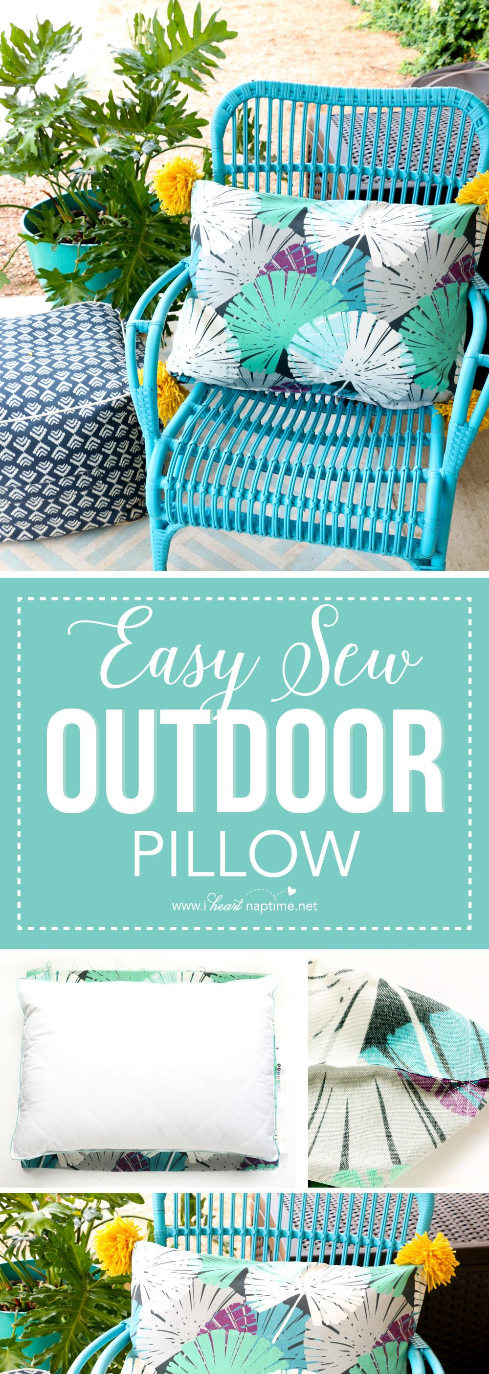 Easy Sew Outdoor Pillow Heart Nap Time