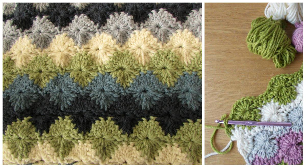Easy Starburst Stitch Blanket Video Tutorial Diy Smartly
