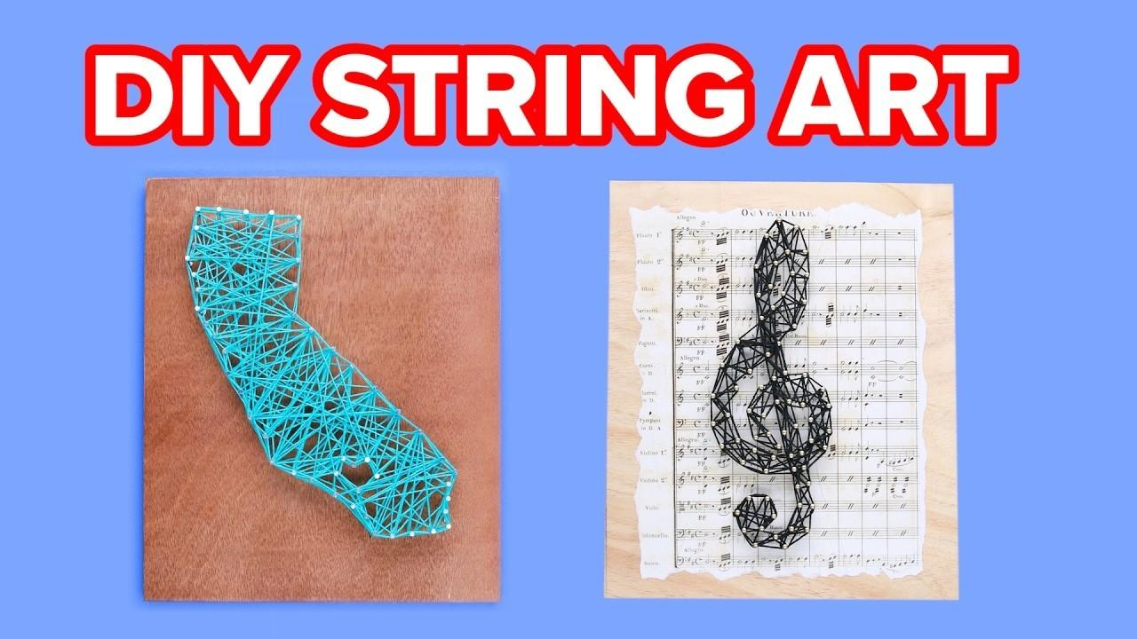 Easy String Wall Art Crafts Diy Projects