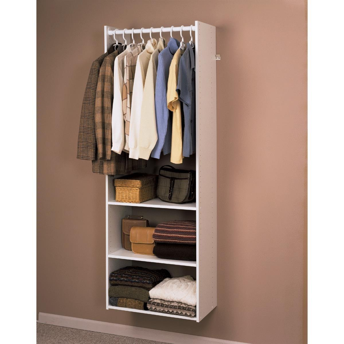 Easy Track Wall Mounted Shelving Hanging Tower Unit Jet