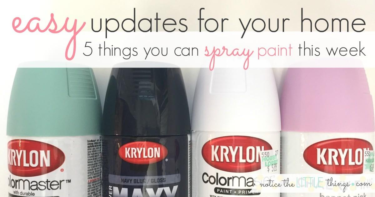 Easy Updates Your Home Things Can Spray Paint