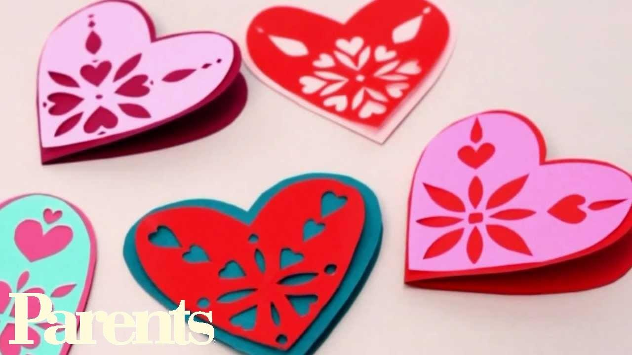 Easy Valentine Day Craft Paper Snowflake Hearts