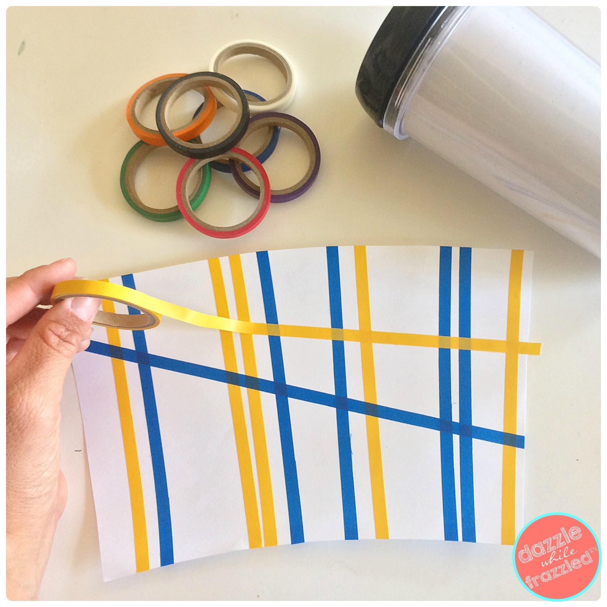 Easy Washi Tape Coffee Mug Father Day
