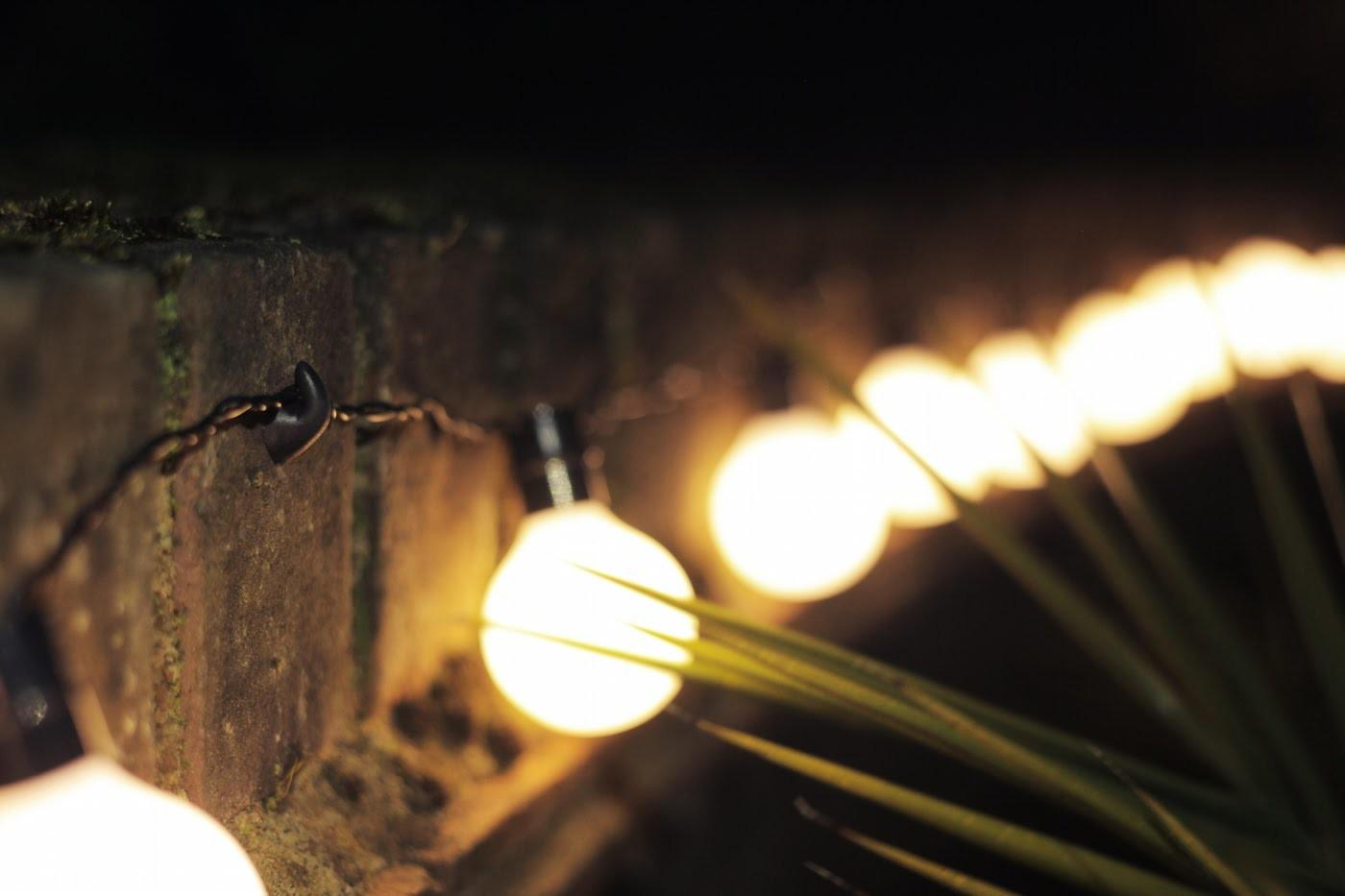 Easy Way Hang String Lights Outside