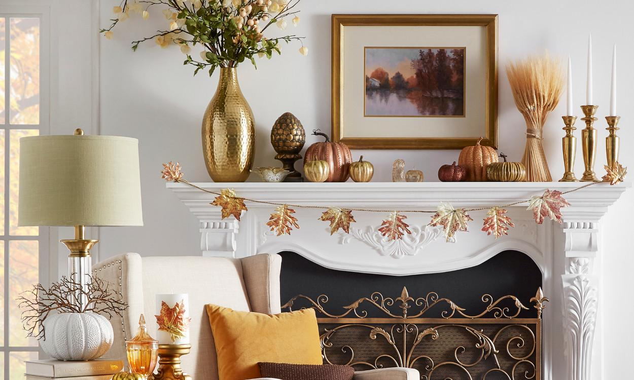 Easy Ways Give Your Mantel Perfect Fall Look