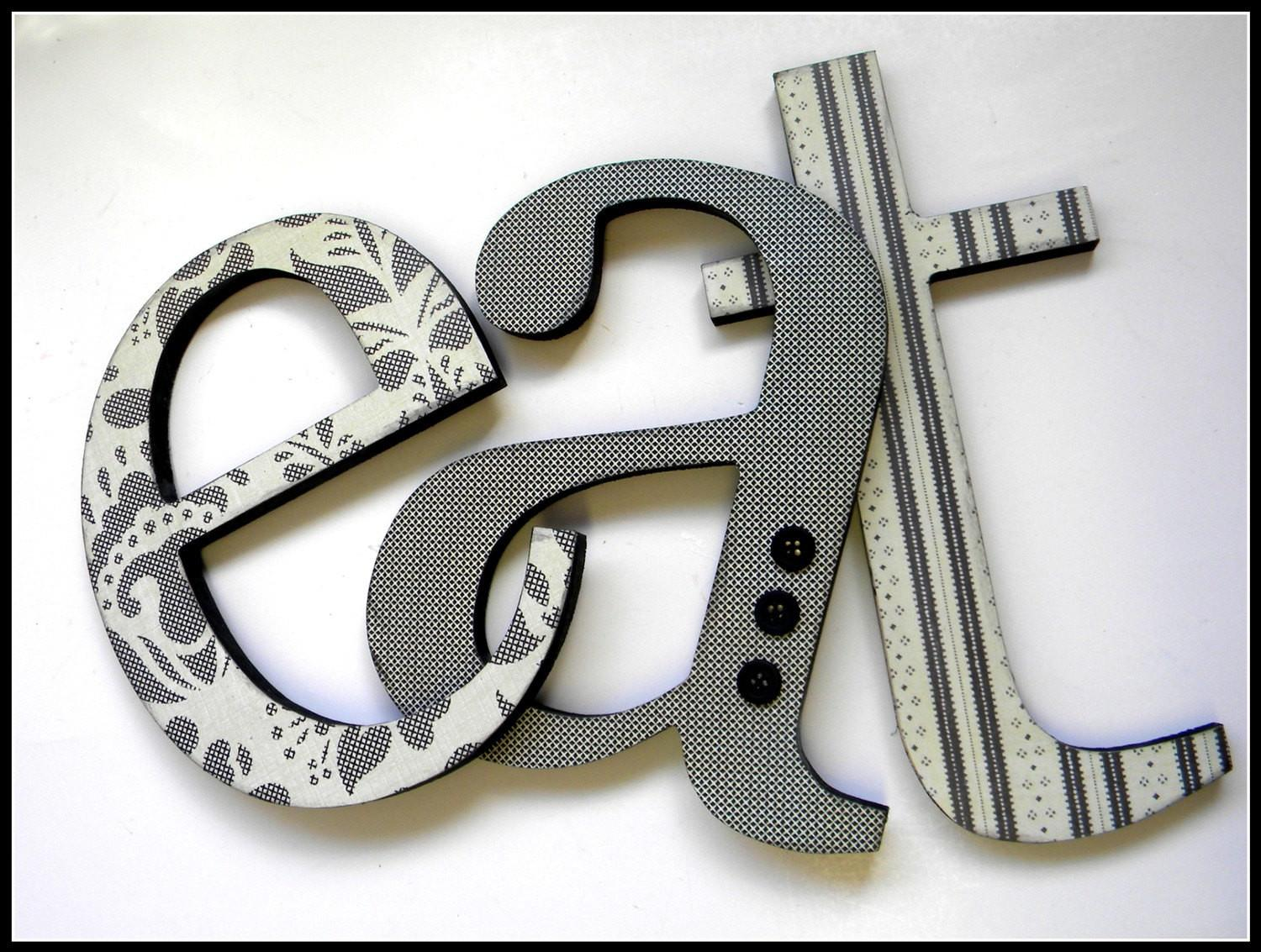 Eat Sign Wooden Letters Kitchen Decor Inches