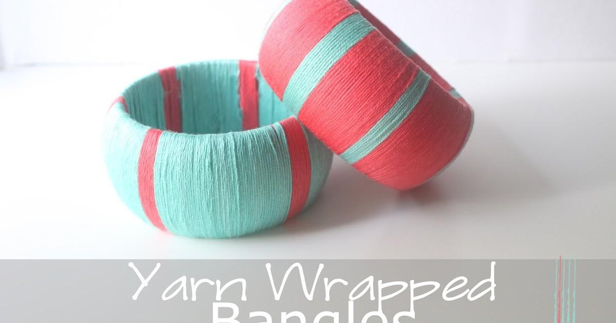 Eat Sleep Make Craft Yarn Wrapped Bangles
