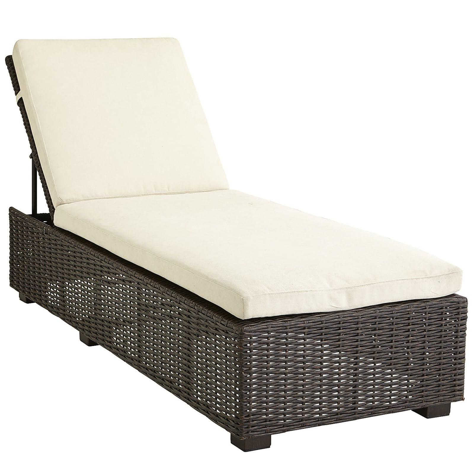 Echo Beach Tobacco Brown Chaise Lounge Pier Imports