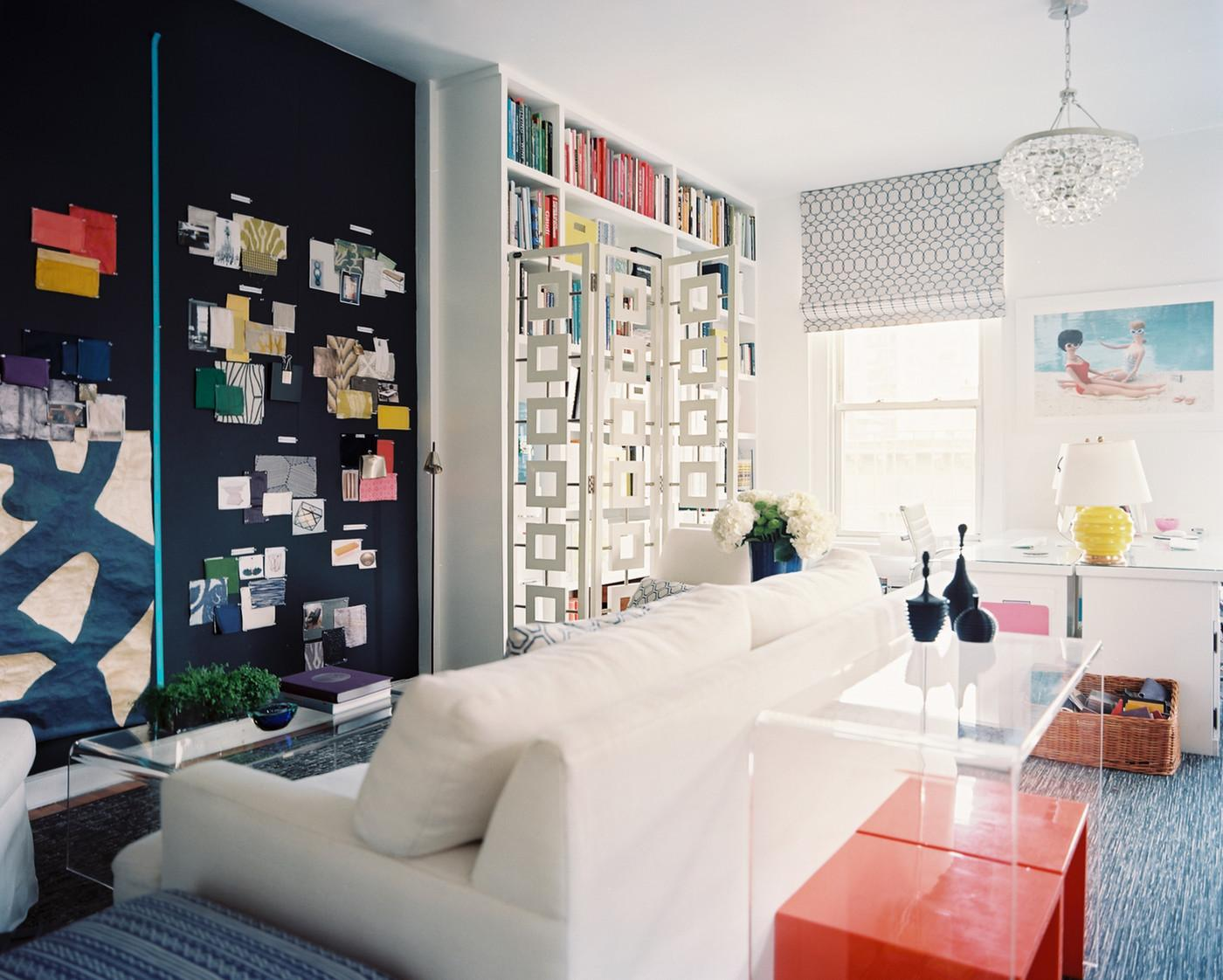 Eclectic Hollywood Regency Work Space Home Office Design