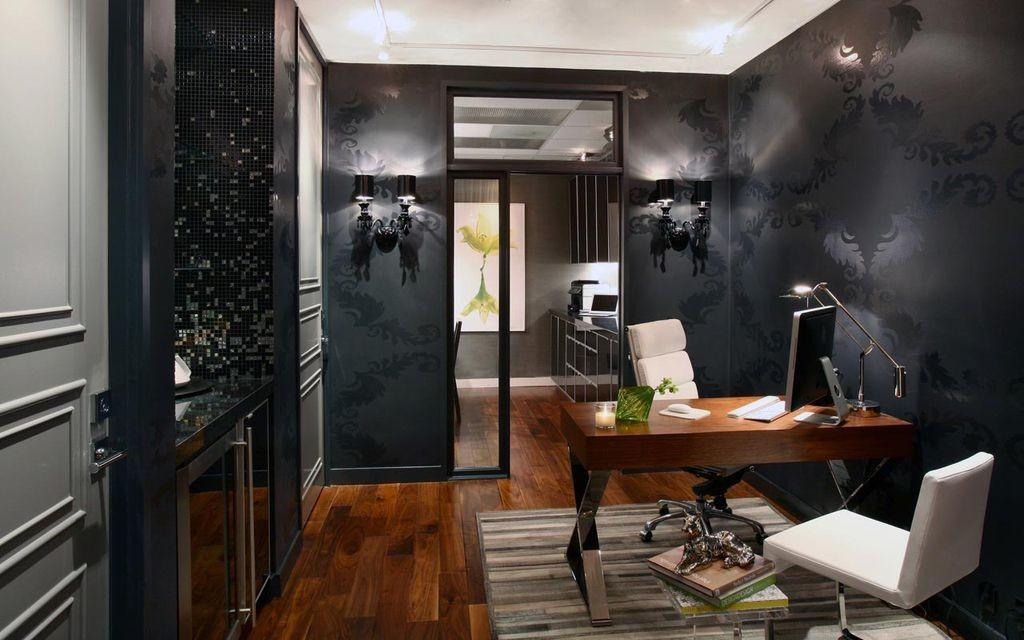 Eclectic Home Office Wall Sconce Adamhunterinc