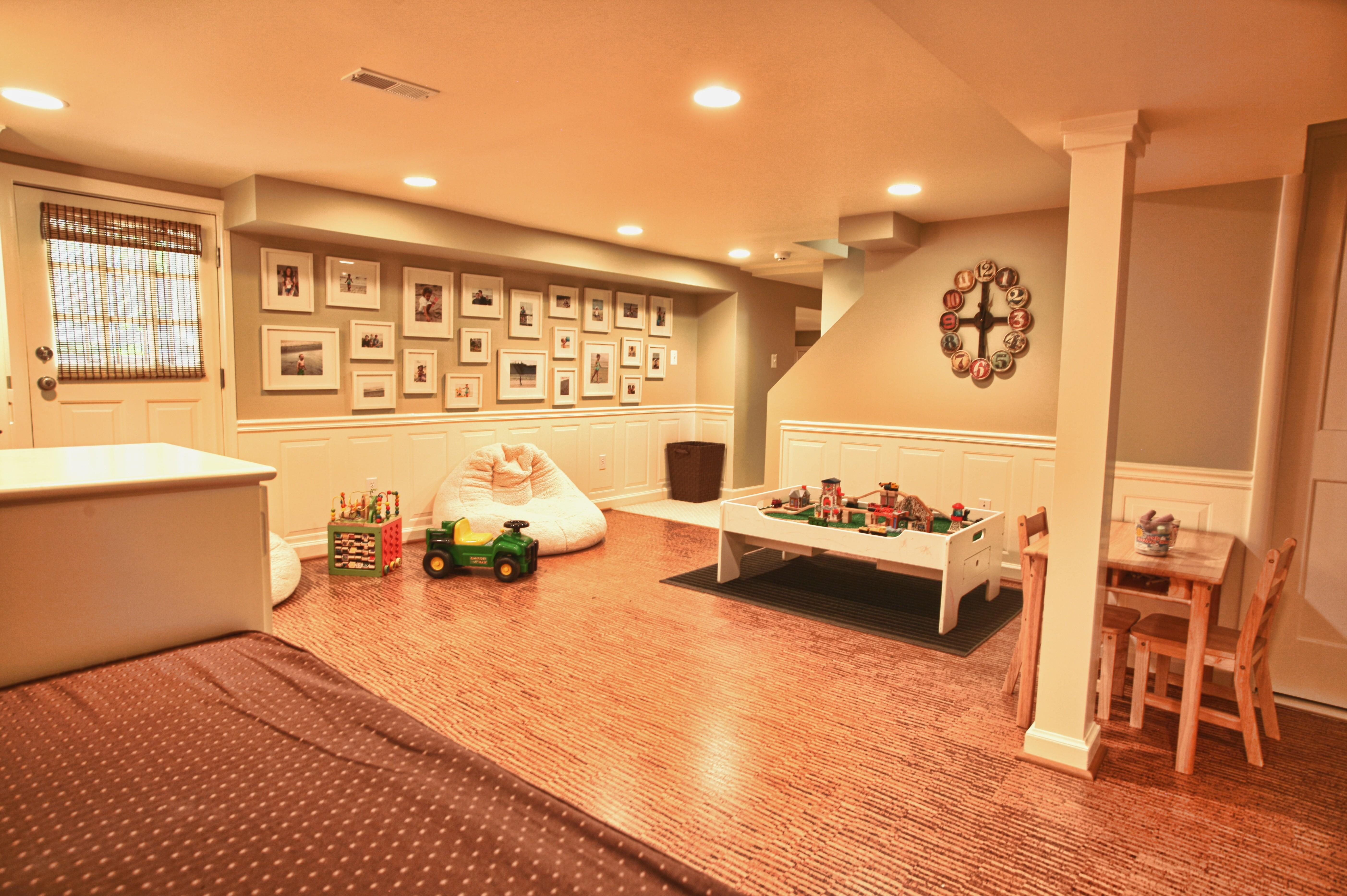 Eco Friendly Children Play Room Basement Redesign
