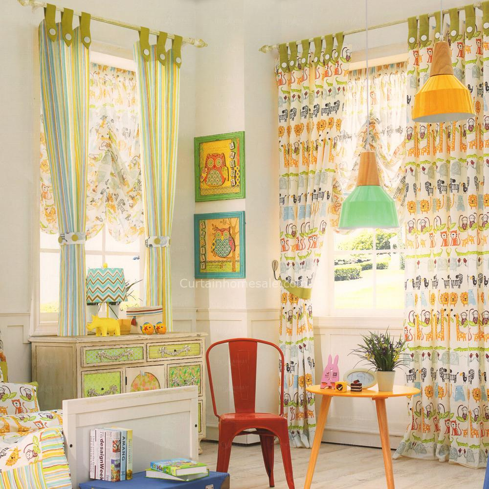 Eco Friendly Cotton Decorative Nursery Curtains 2016 New