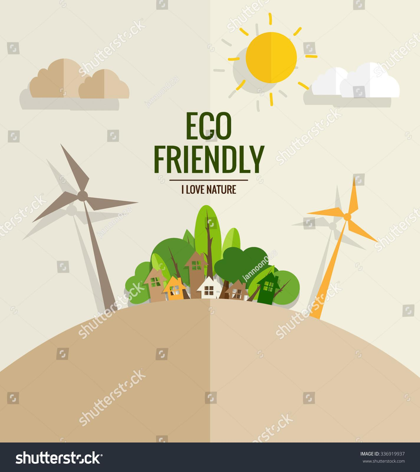 Eco Friendly Ecology Concept Tree Vector