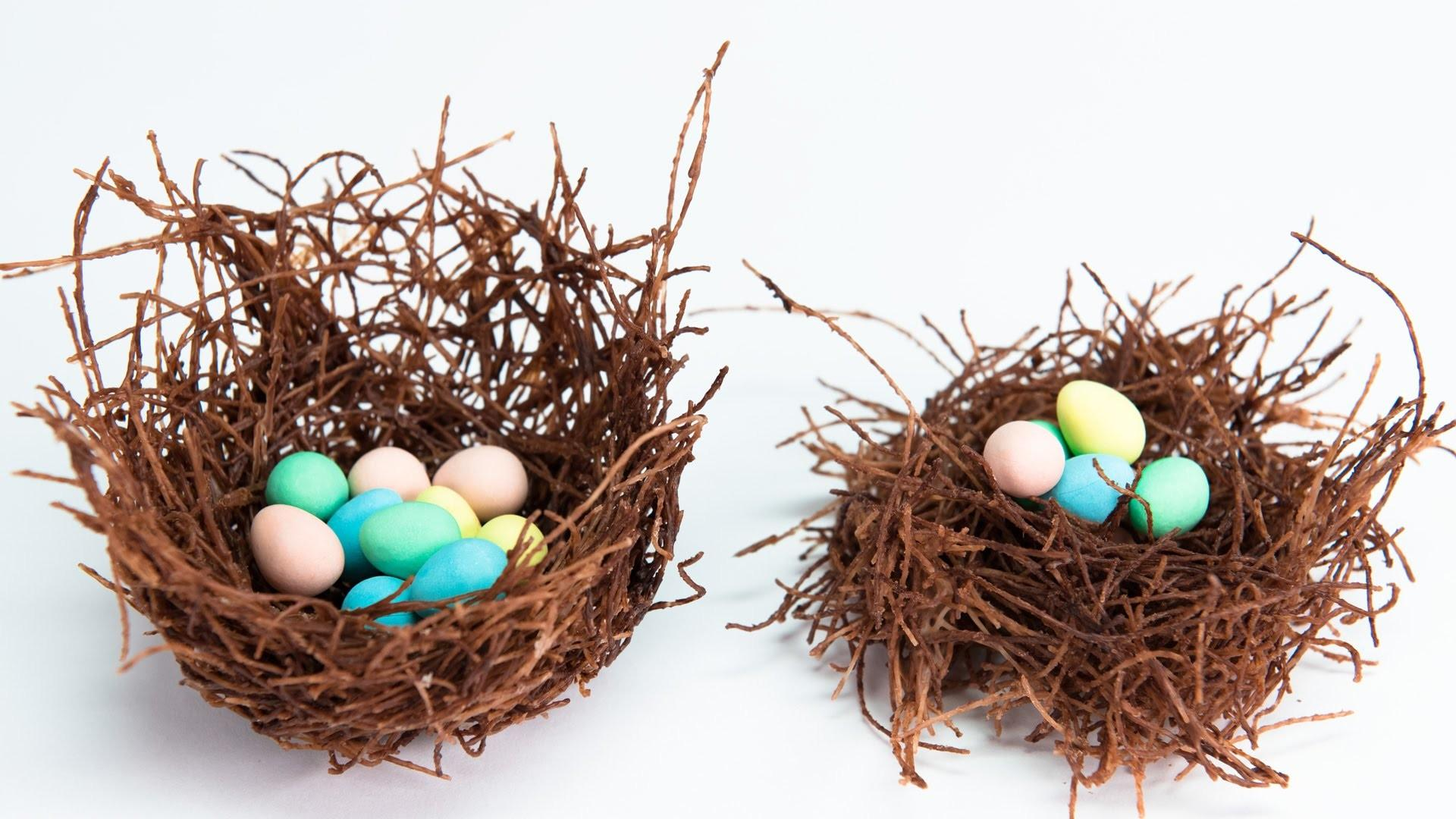 Edible Chocolate Nests Filled Cadbury Mini Eggs
