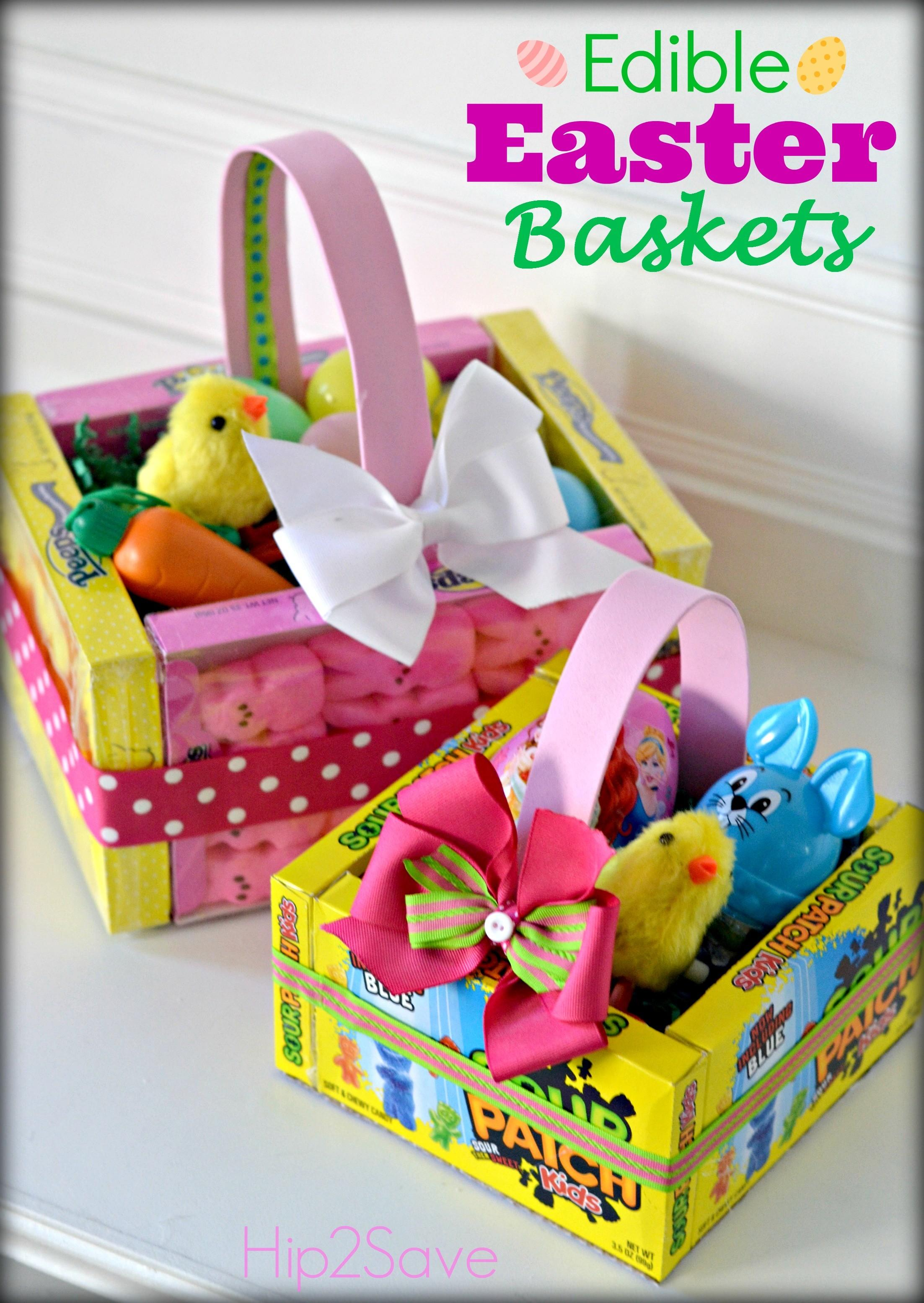 Edible Easter Baskets Easy Craft Hip2save