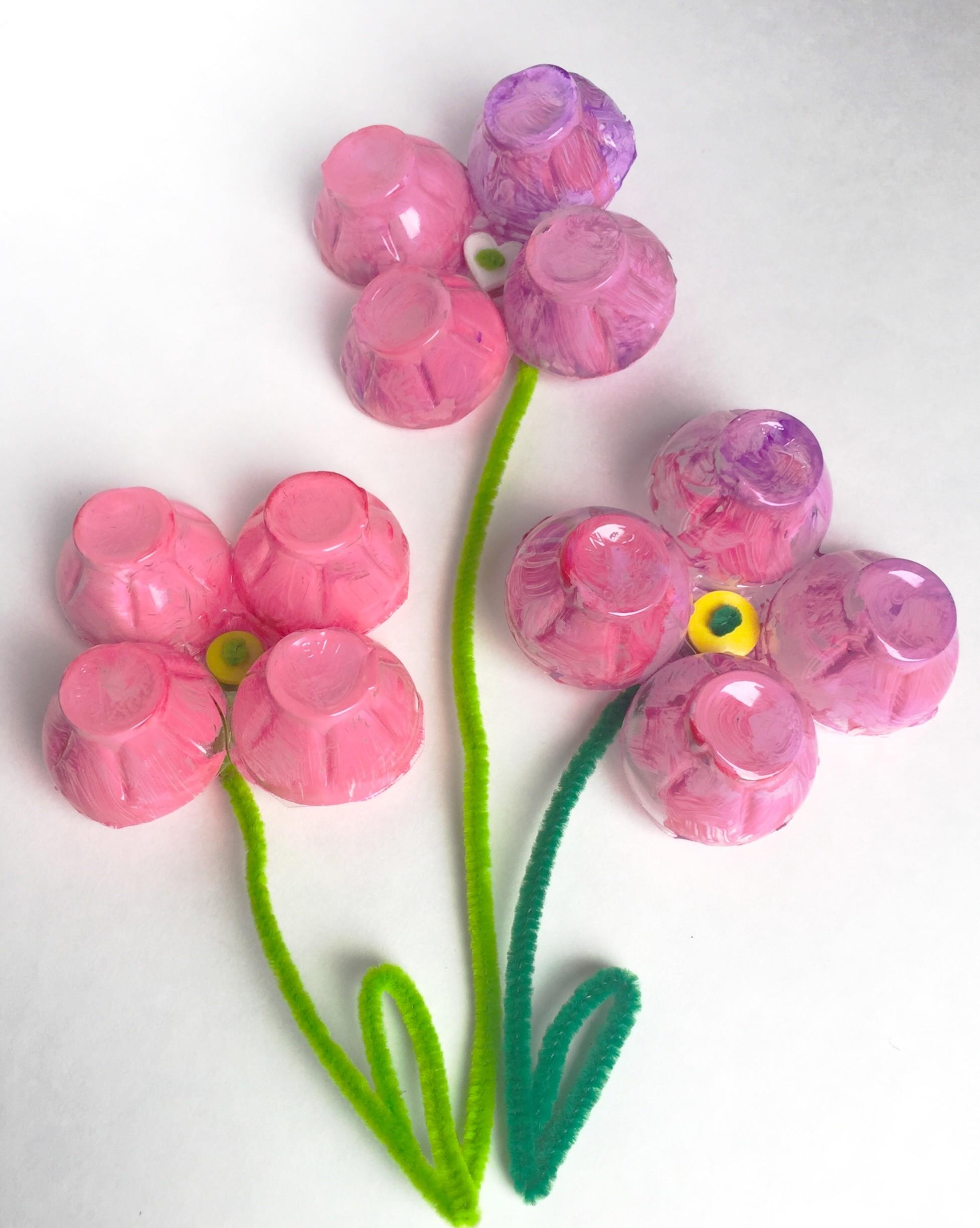 Egg Carton Flower Magnets Fun Family Crafts