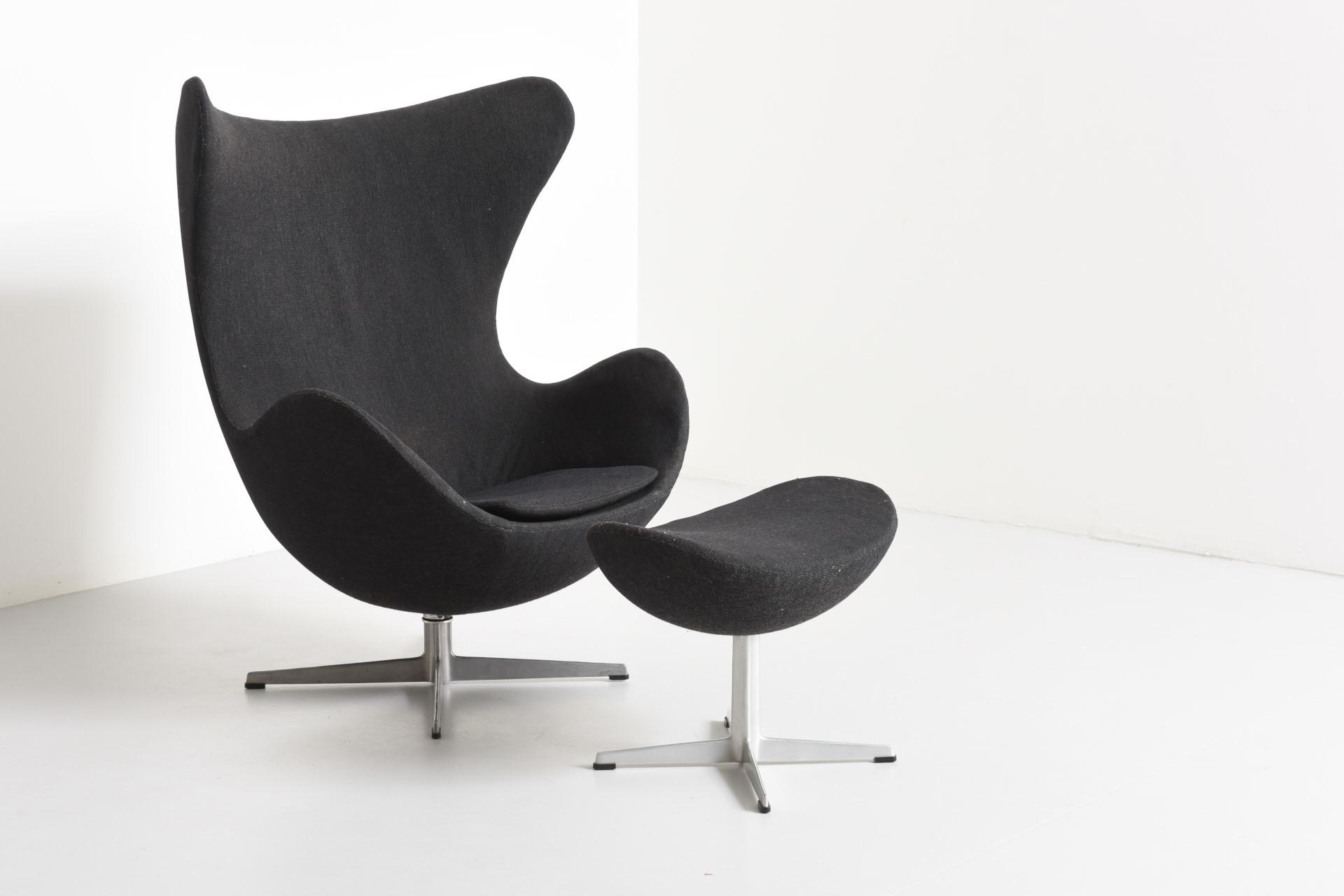 Egg Chair Ottoman Arne Jacobsen Modestfurniture