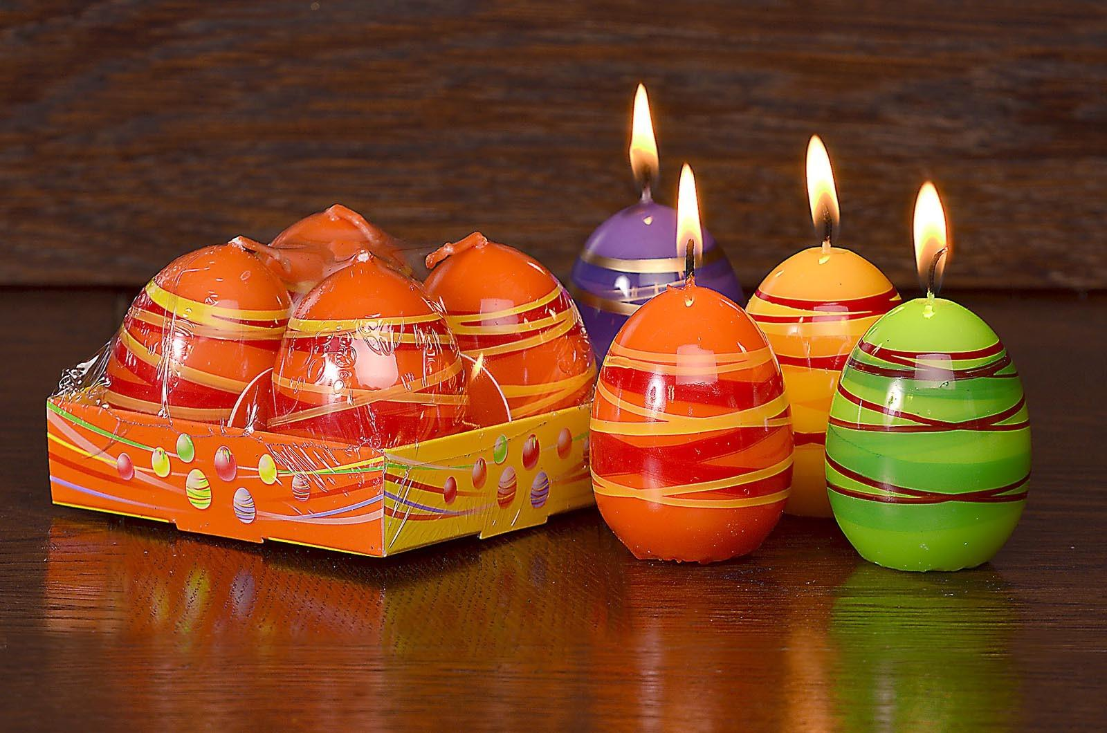 Egg Shaped Decorative Candle