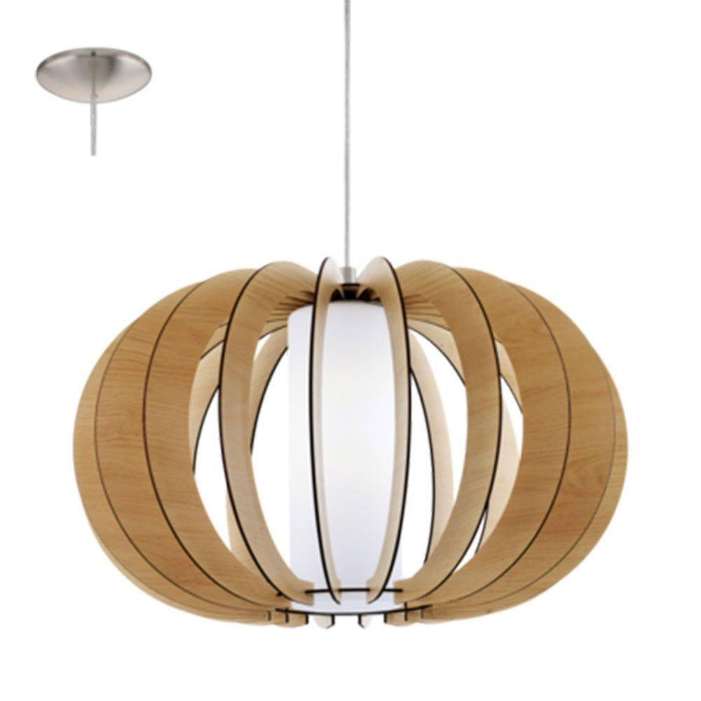 Eglo Wooden Ceiling Pendant Light Maple Stellato