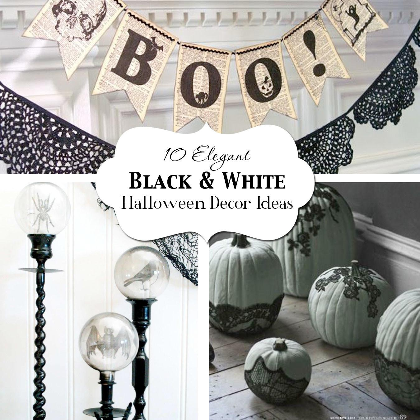 Elegant Black White Halloween Decor Ideas Atkinson