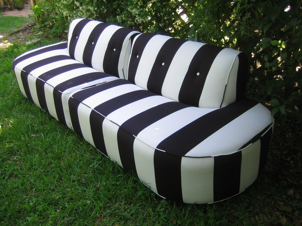 Elegant Black White Striped Couch Homesfeed