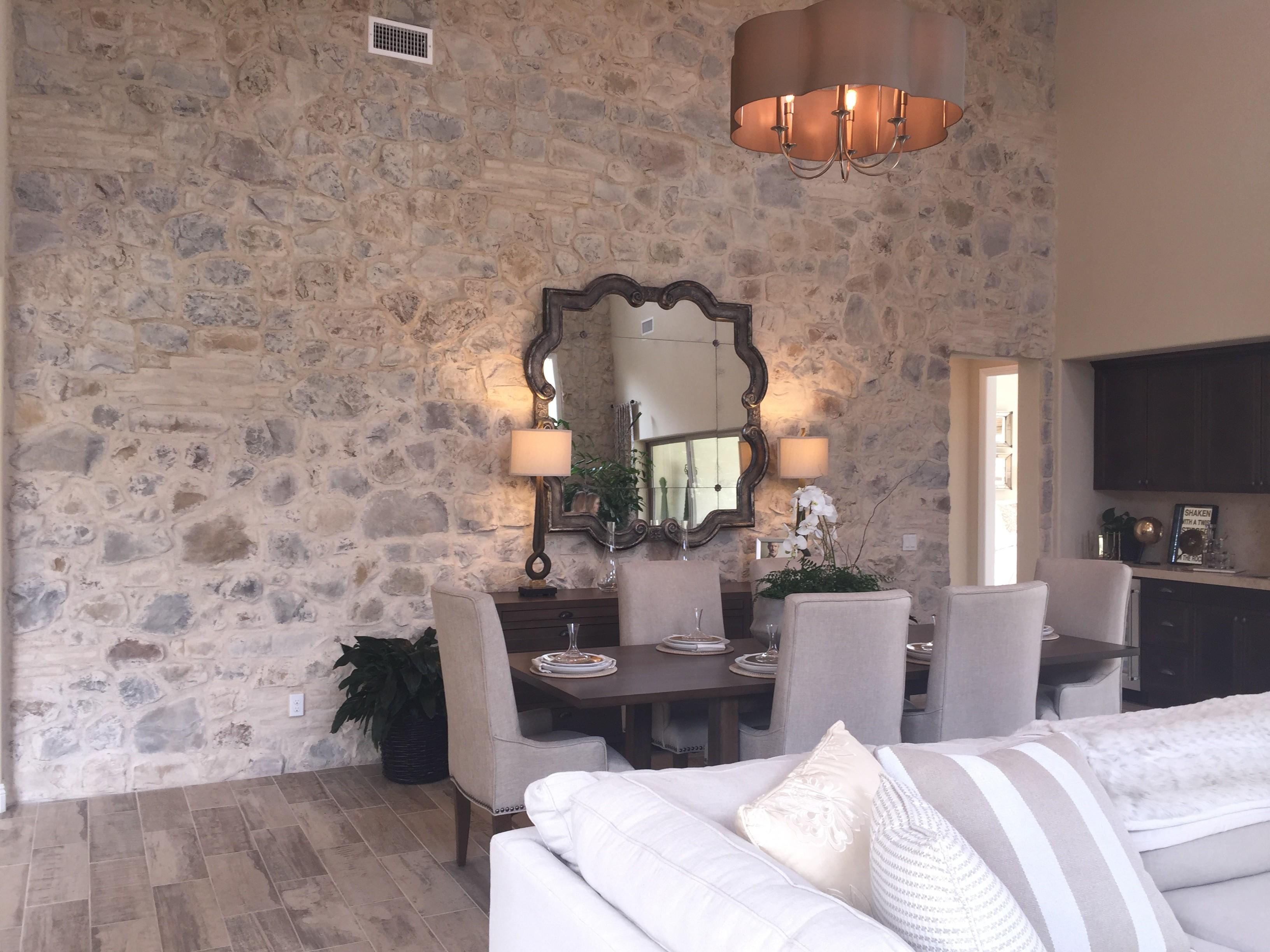 Elegant Dining Room Stone Accent Wall Light
