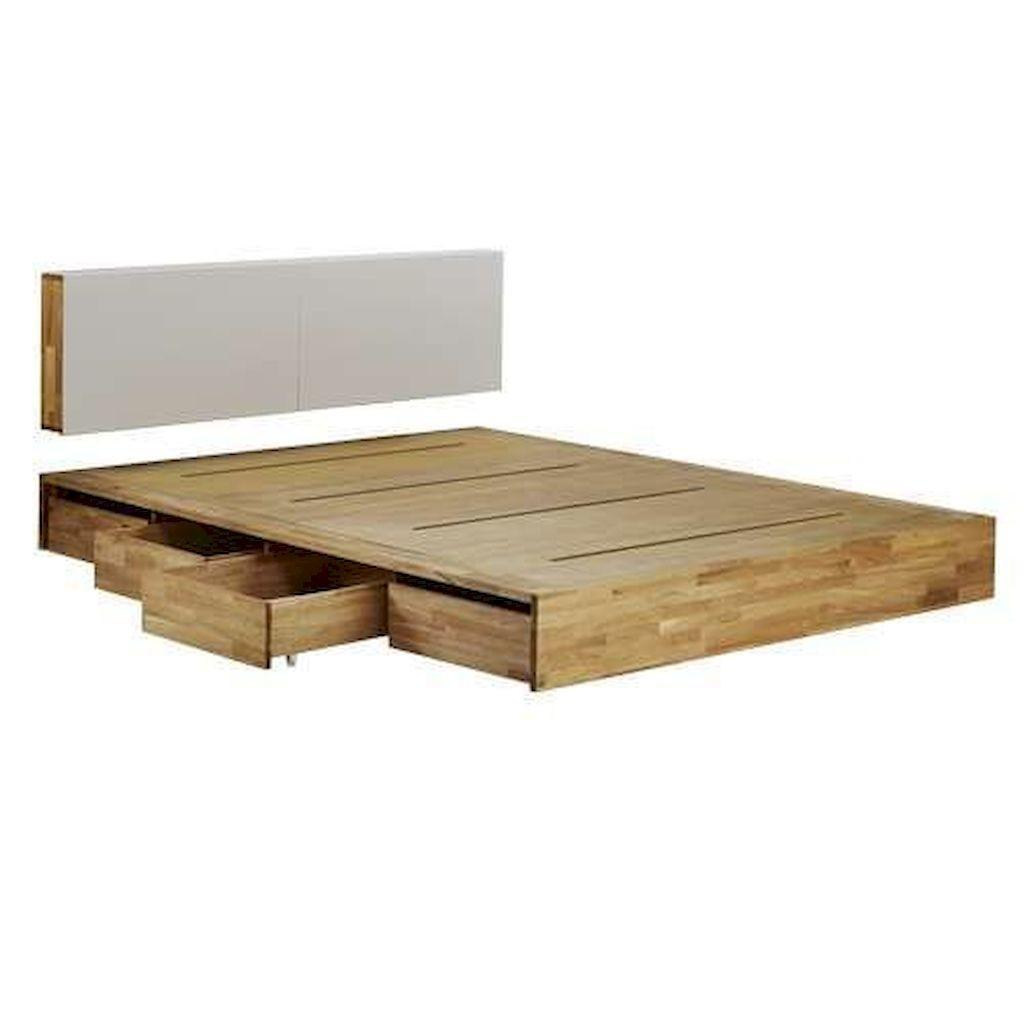 Elegant Diy Wooden Platform Bed Design Ideas