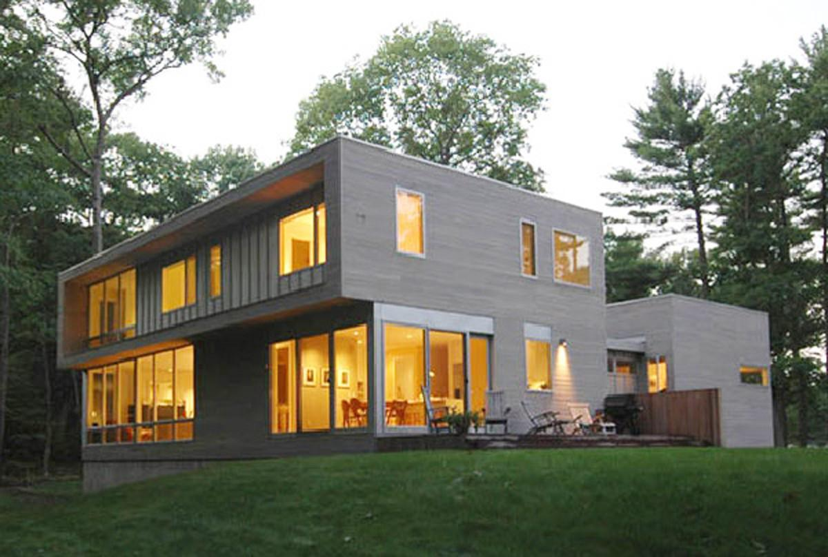 Elegant Forest House Designs Contemporary Decorations