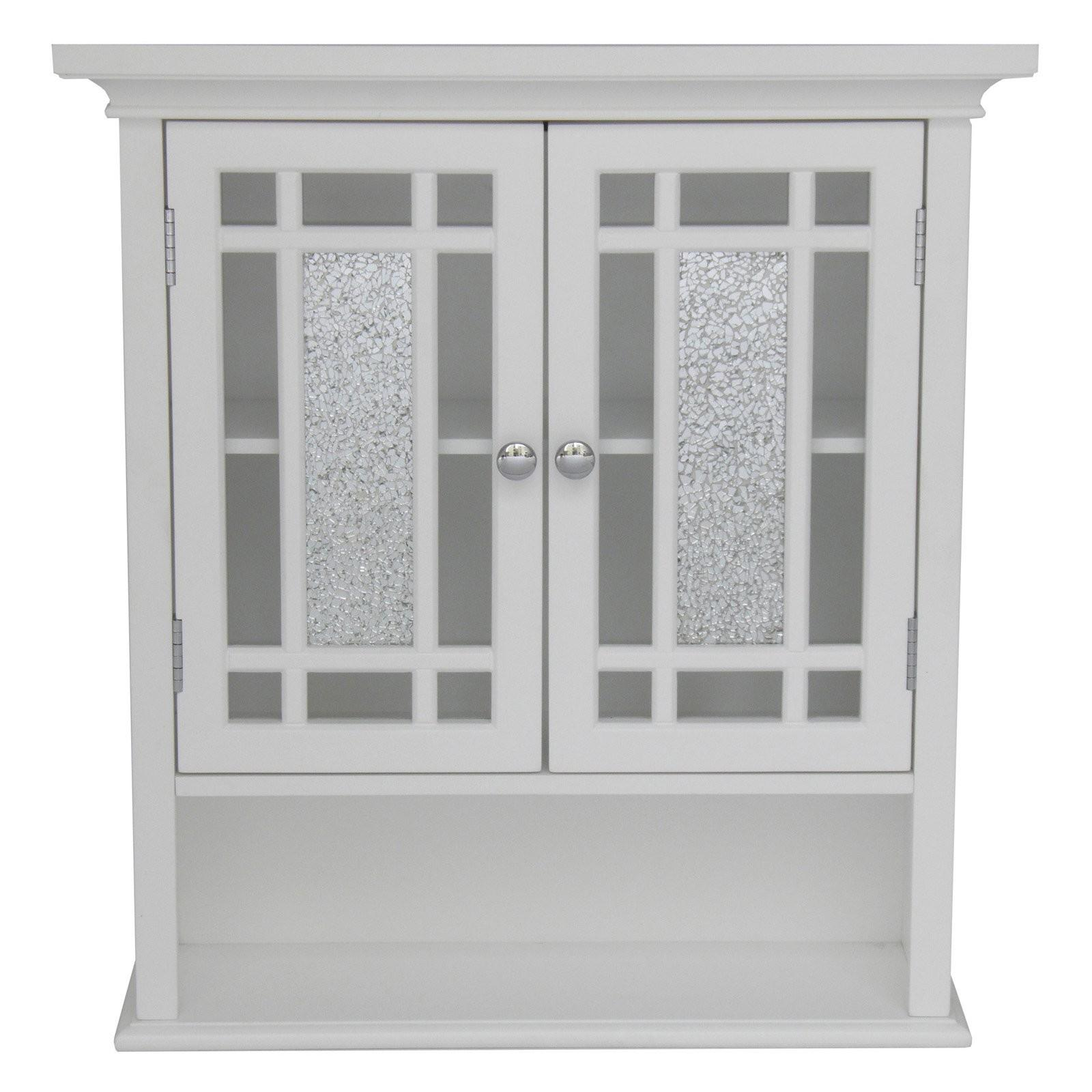 Elegant Home Windsor White Bathroom Wall Cabinet