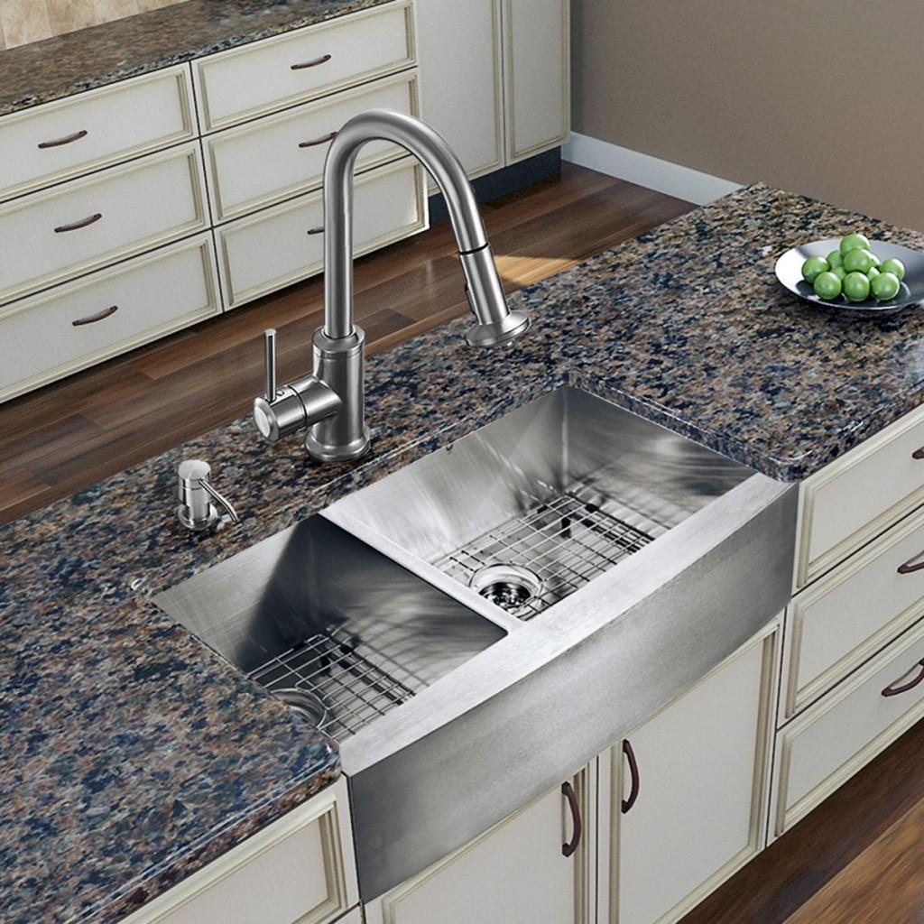 Elegant Kitchen Ideas Double Bowls Sink