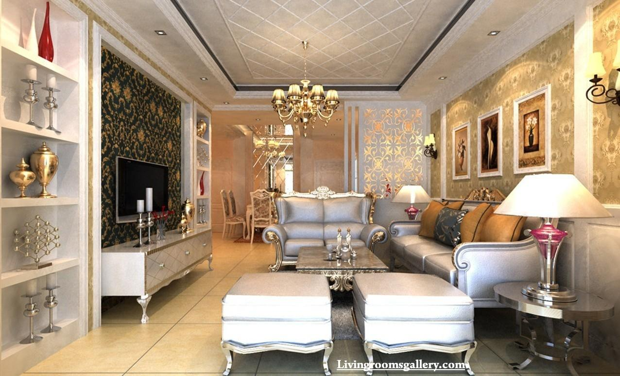 Elegant Modern Pop False Ceiling Designs Living