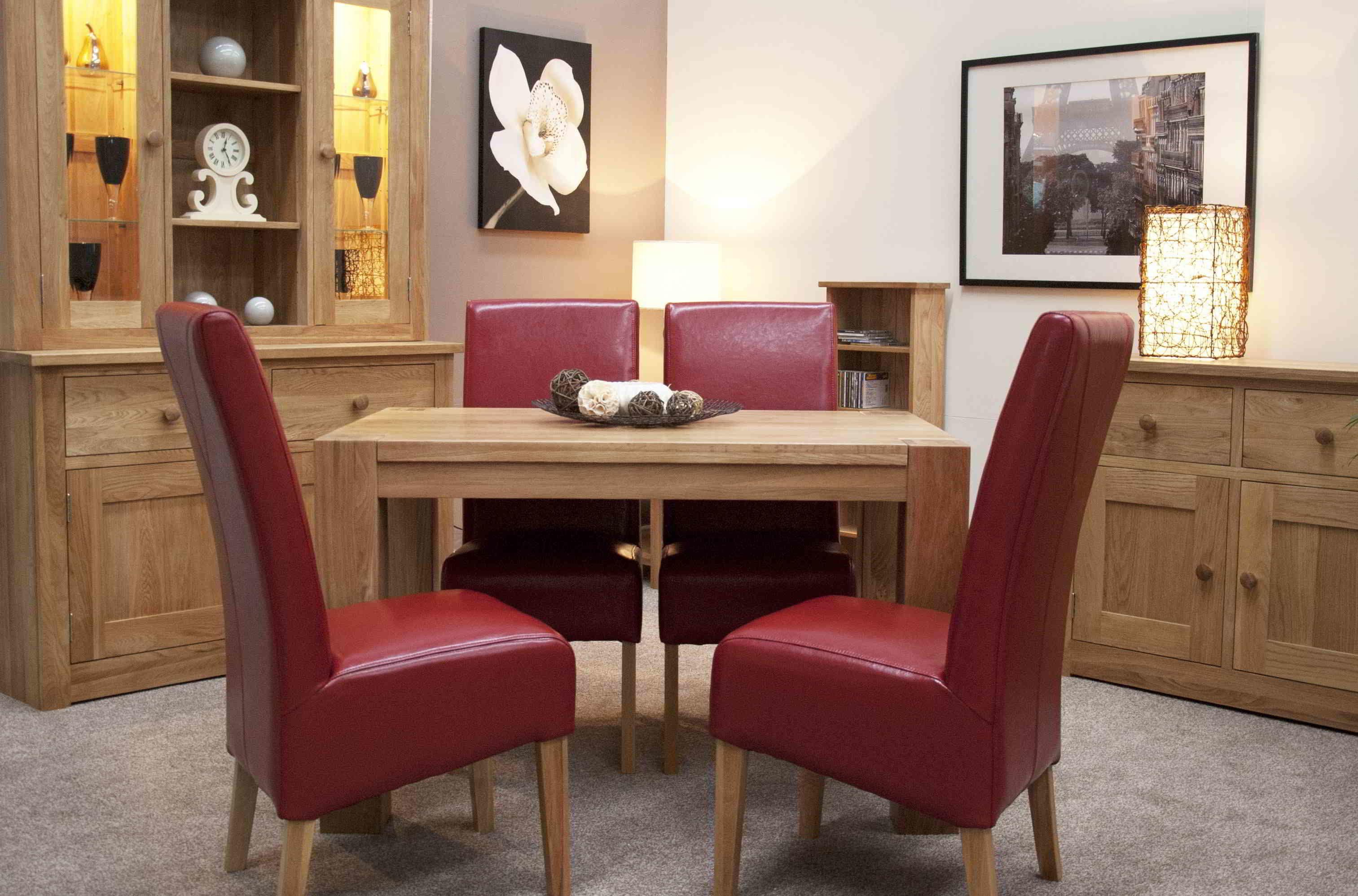 Elegant Red Dining Room Chairs Light