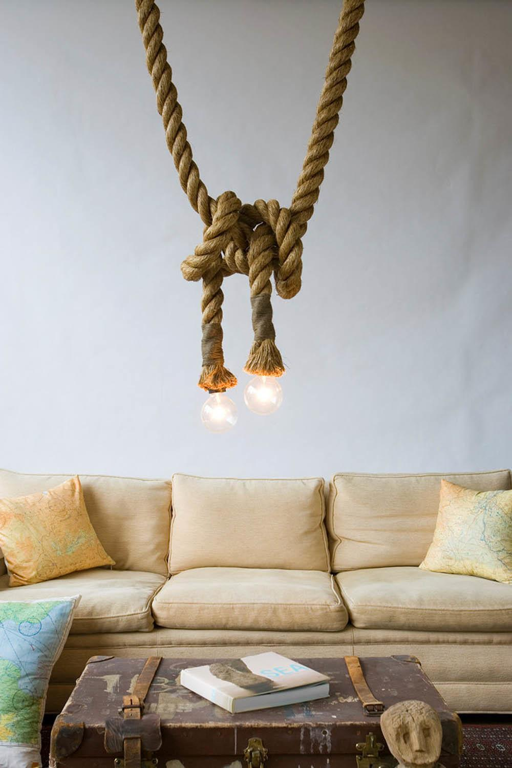 Elegant Rope Decor Hinting Towards Nautical Inspiration