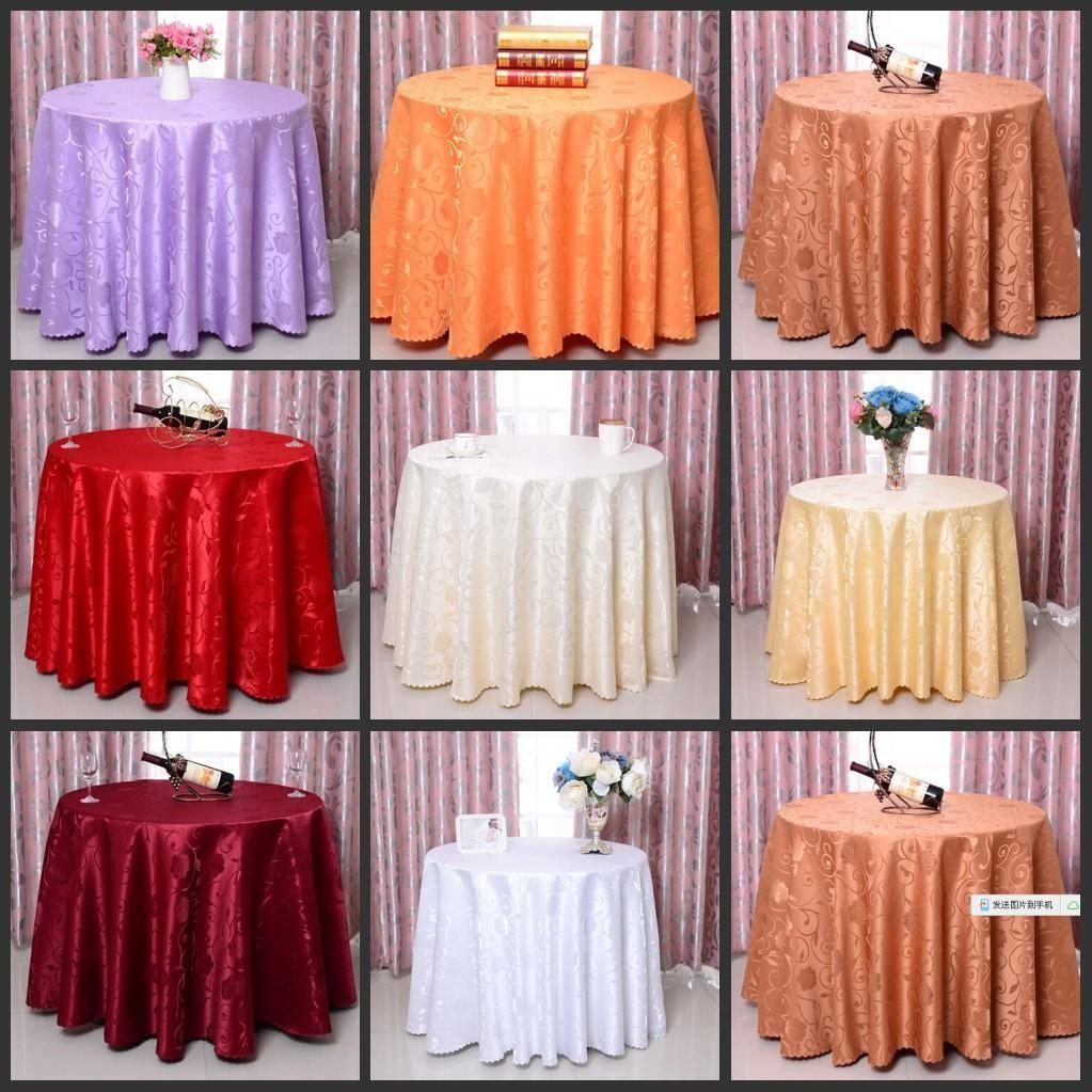 Elegant Rose Flower Pattern Round Table Cloths Wedding