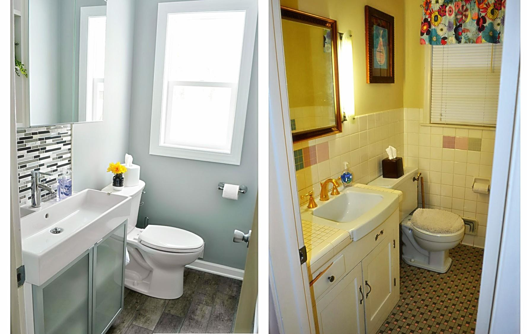 Elegant Small Bathroom Makeovers Before After Home