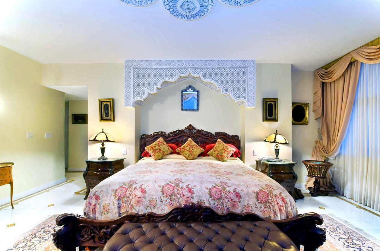 Elegant White Moroccan Bedroom Remodel Home