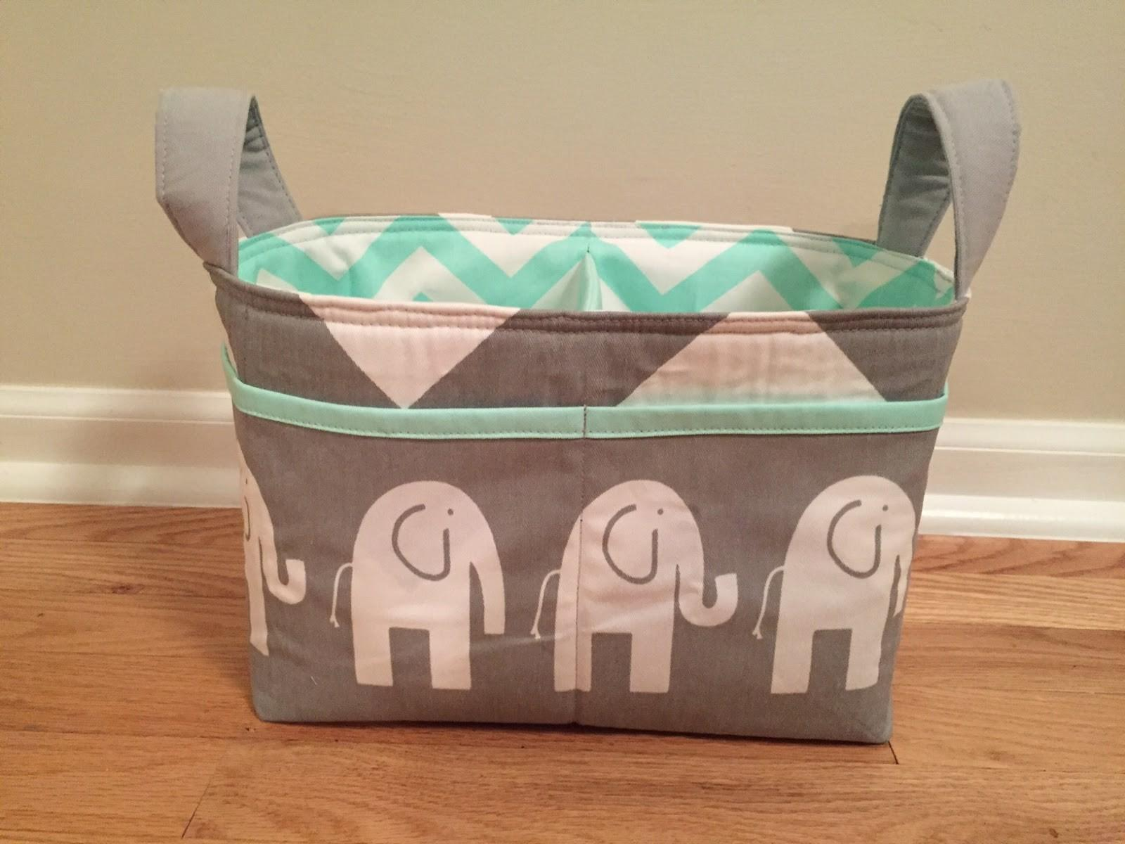 Elephant Laundry Basket Hamper Cute