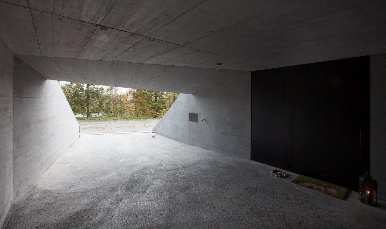 Elevated Concrete House Outstanding Geometry