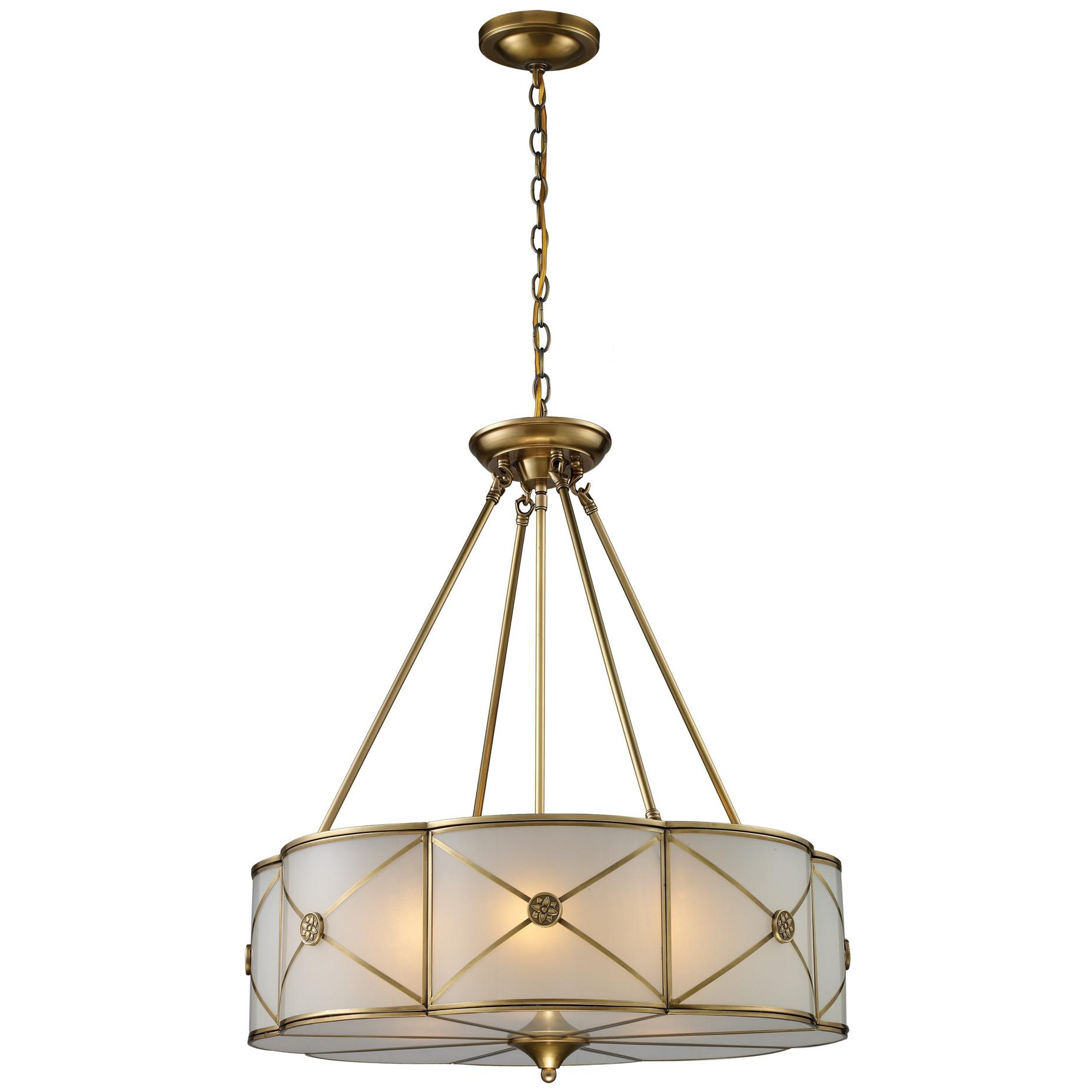 Elk Lighting Fabric Cylinders Light Drum Pendant