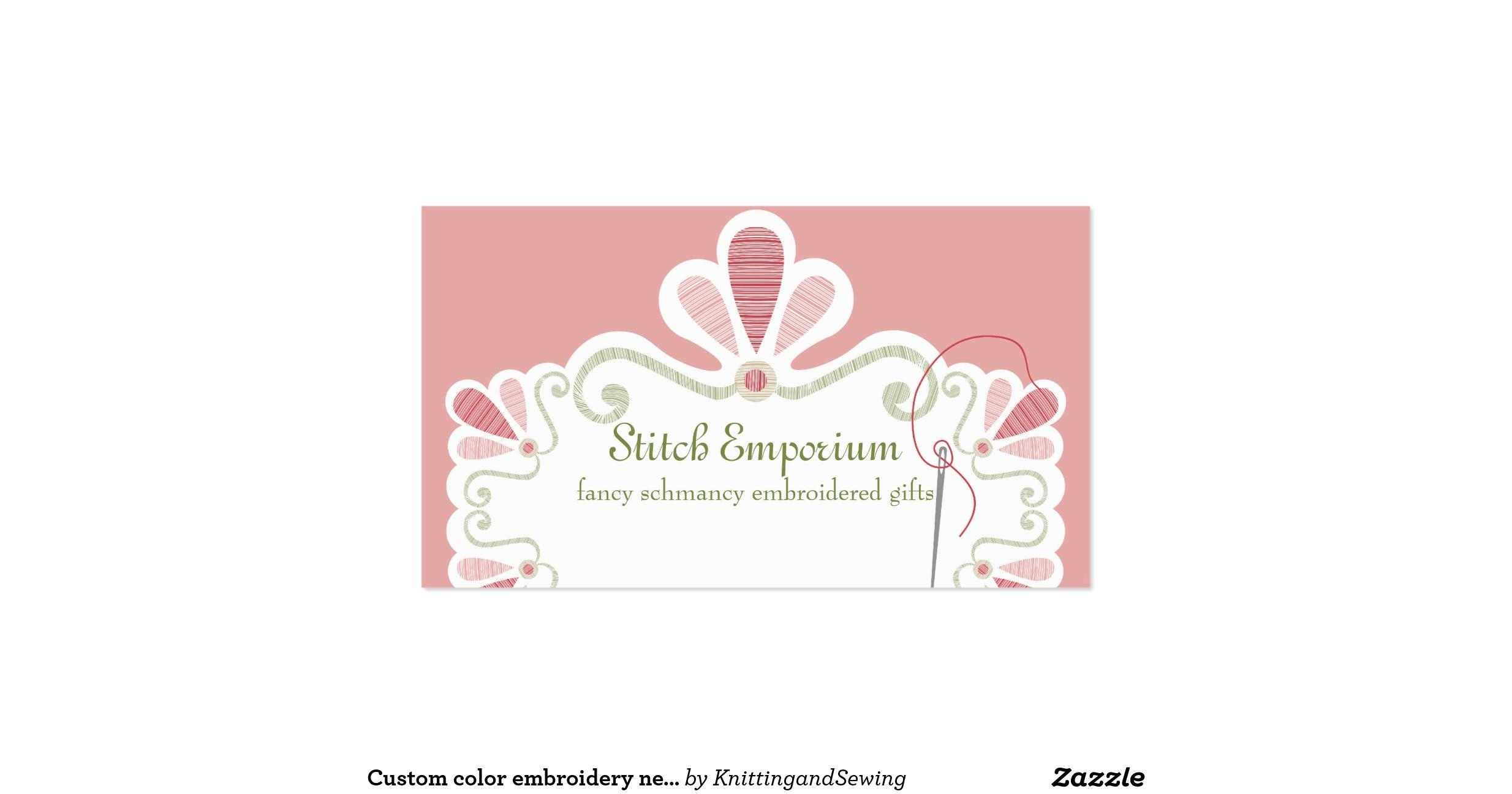 Embroidery Business Card Ideas Makaroka