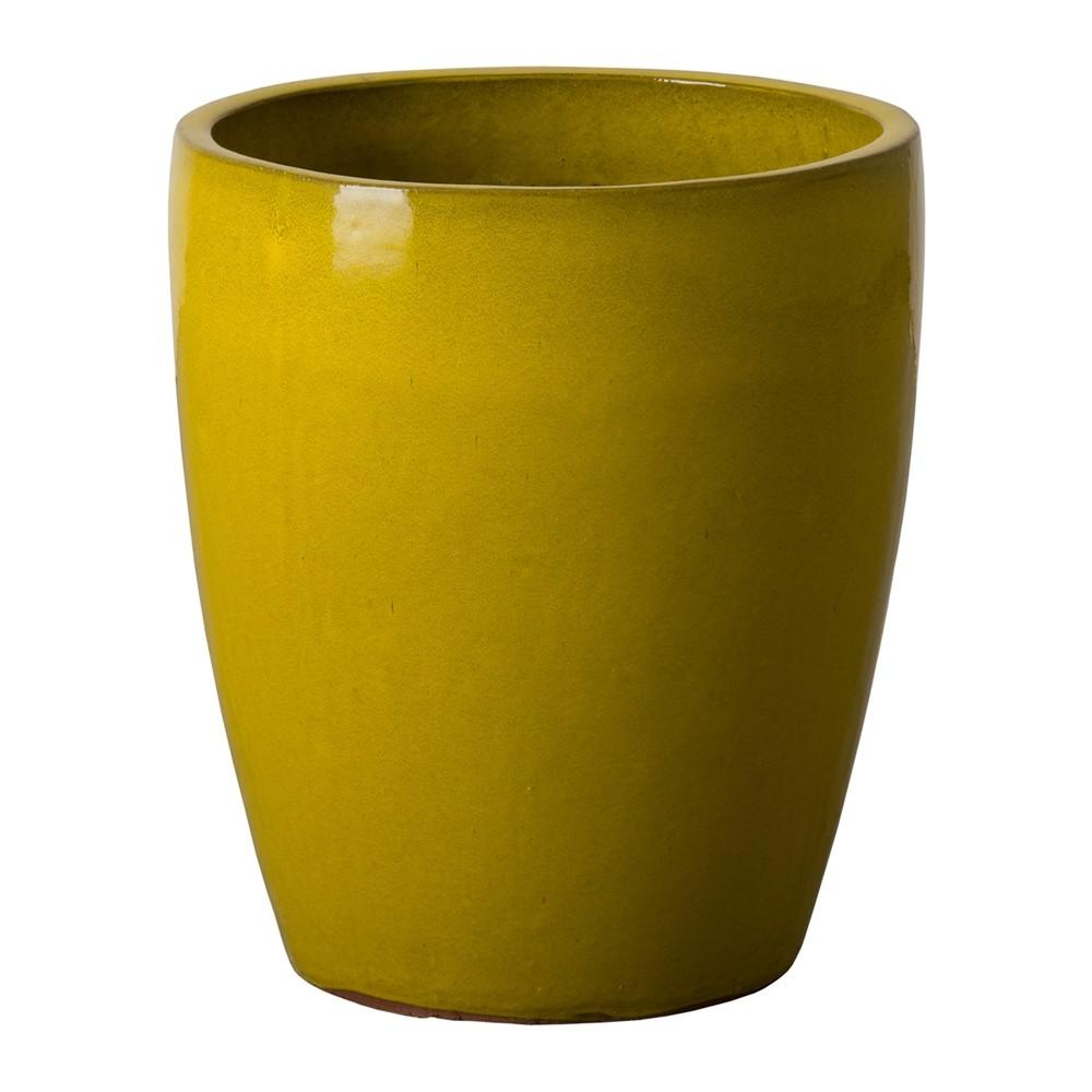 Emissary 0533my Mustard Yellow Bullet Planter Atg Stores