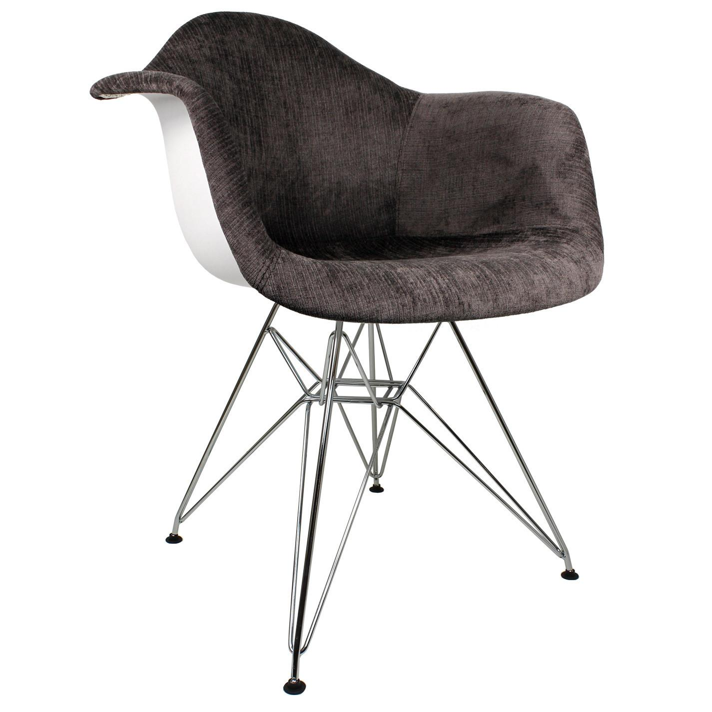 Emodern Decor Velvet Fabric Arm Chair