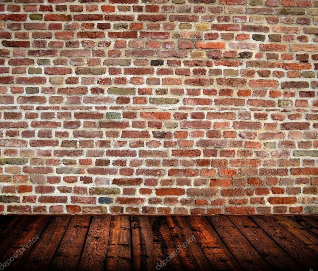 Empty Room Interior Brickwall Wooden Floor
