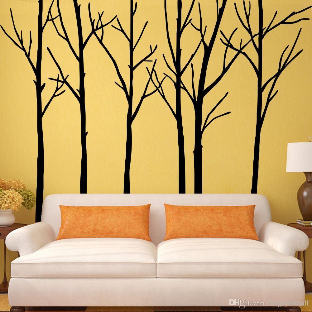 Enchanting Big Wall Decals Bedroom Also Large Tree