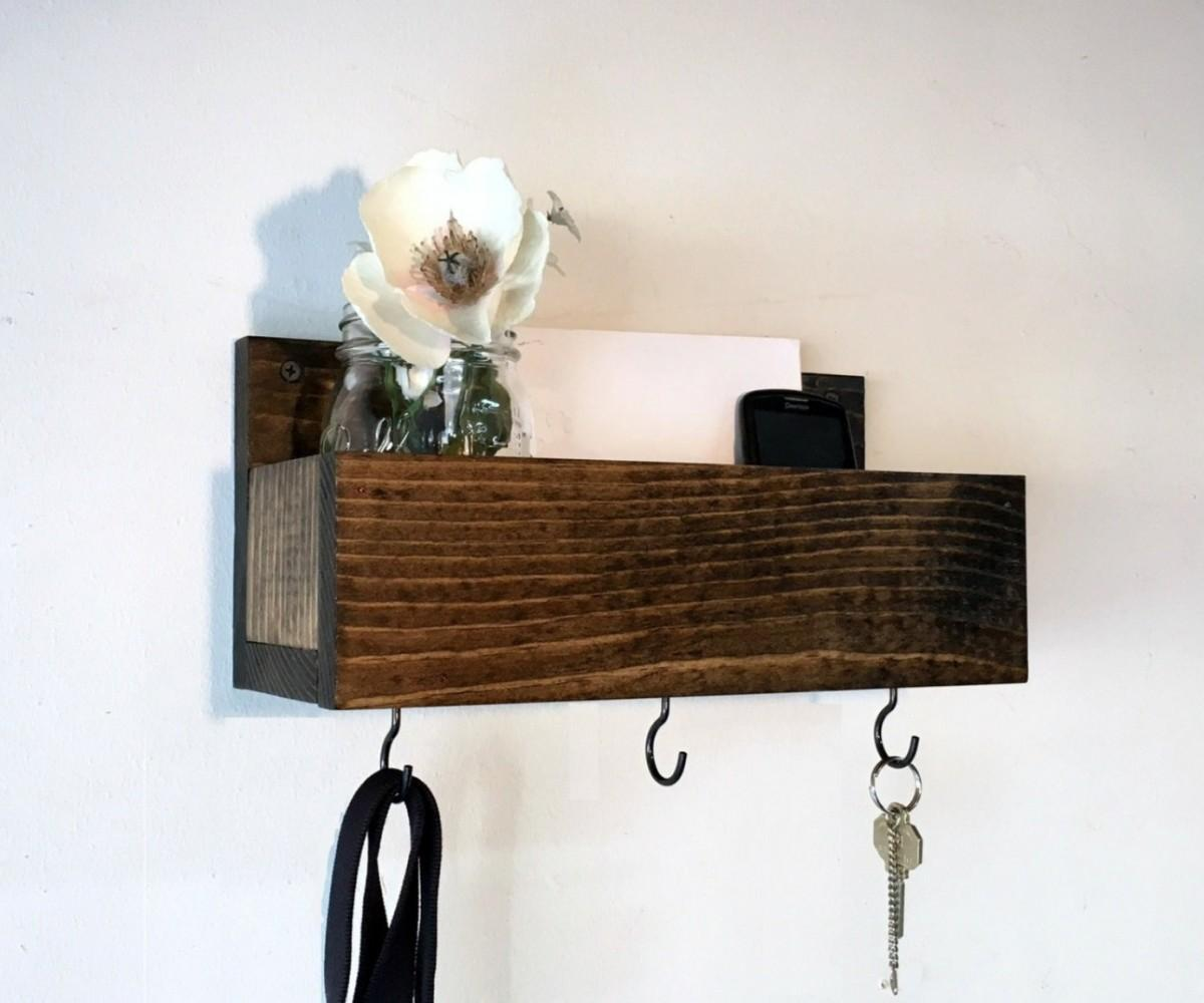 Encouragement Coat Rack Mail Organizer Key Her Wall Hooks
